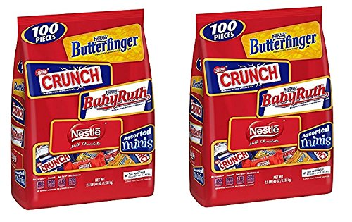Nestle Chocolate Assorted Minis Bag, 40-Ounce (2 Pack)
