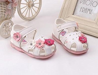 SANFASHION Babyschuhe Kleinkind Sonnenblumen M/ädchen Sandalen beleuchtet Prinzessin Schuhe mit weichen Sohlen