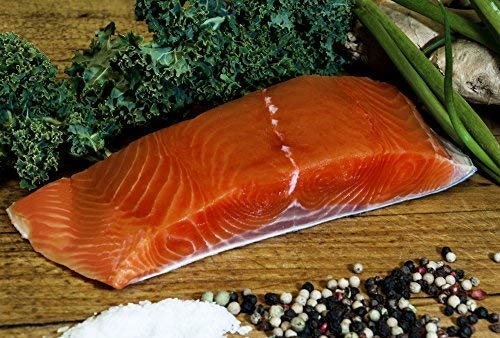 Wild Alaska KING Salmon - 5lb Box of Portioned Fillets