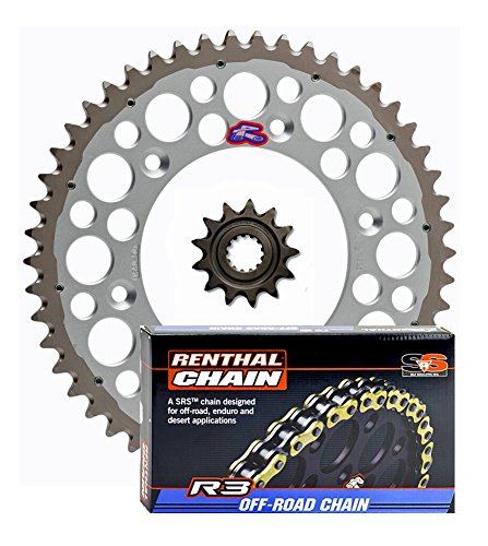 Renthal Grooved Front & Twinring Rear Sprockets & R3 O-Ring Chain Kit - 12/52 SILVER - Honda CRF250R, ()