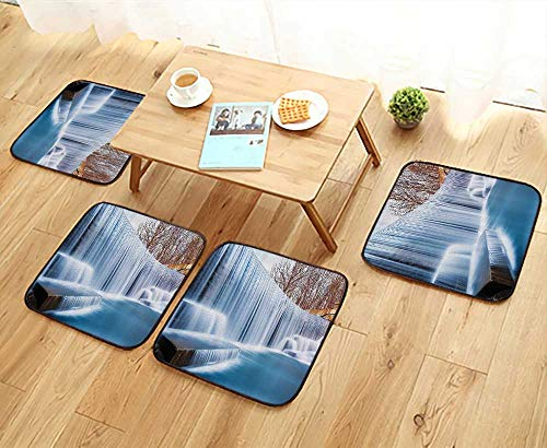 Printsonne Simple Modern Chair Cushions ecti Grand Victoria lls Flowing Over The River Novelty in The Universe Reusable Water wash W27.5 x L27.5/4PCS - Chair Rocker Victoria Swivel