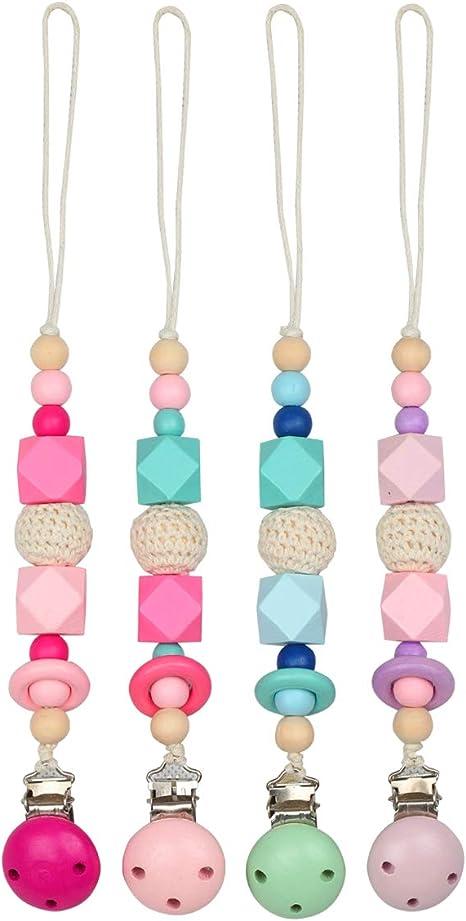 Dentition clips de Tétine Silicone Sucette chaîne babyteething Toy relief Perles titulaire