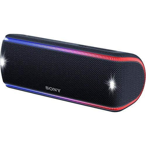 [해외] 소니 SONY wireless 포터블 스피커 SRS-XB31 B : 방수/방진/방수/BLUETOOTH/전용스마트폰 어플대응 라이팅 기능 2018년 블랙