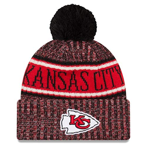 New Era 2018 NFL Kansas City Chiefs Reverse Sport Stocking Knit Hat Beanie -