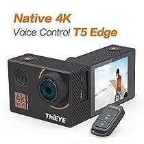 "ThiEYE T5 Edge Action Camera,Ture 4k / 30fps, 14MP, 2.0 ""IPS Screen, EIS Wifi 60M Impermeabile Fotocamera Subacquea con Telecomando"
