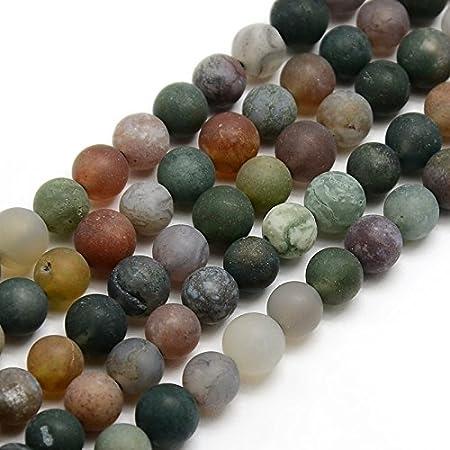 Juego de 50 Perlas de ágata India de Piedra Natural, 4 mm, Color Verde Mate, Piedras Preciosas, Piedras Preciosas, para Joyas, Pulseras, ágatas, Gemas, Cuentas