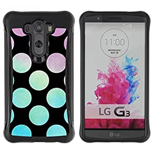 Suave TPU Caso Carcasa de Caucho Funda para LG G3 / Disco Party Lounge Black / STRONG
