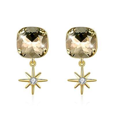 0ea53e4acc430 Amazon.com: Bijours LEKANI 925 Sterling Silver Elegant Earrings ...