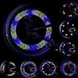 LEBOLIKE Spoke Light Waterproof Colorful LEDs Spoke Lights for Bicycle Wheel Spoke Decorations - (1 Piece for 1 Tire)