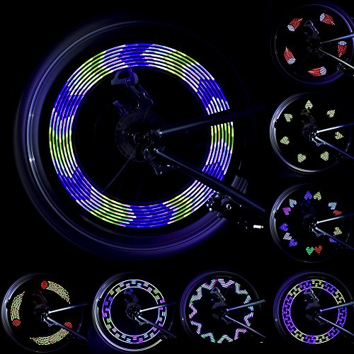 Lebolike Spoke Light Waterproof Colorful LEDs Spoke Lights for Bicycle Wheel Spoke Decorations (1 Piece for 1 Tire)