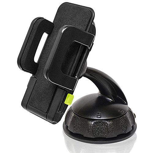 (Bracketron Car Dash Mount Holder for Smartphone GPS Devices up to 4