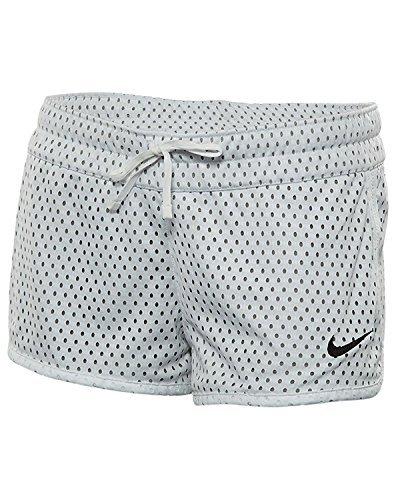 Nike Womens Gym Reversible Training Shorts White/Dark Grey 724539-100 Size Medium