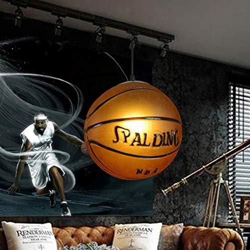 BYDXZ Rétro Creative Basketball Pendentif Lampe Bar Personnalité Stade Suspension Lampe Salon Salle à Manger Chambre étude Hall d'entrée Lustre Minimalisme En Verre En Métal Décoratif Suspension Lampe