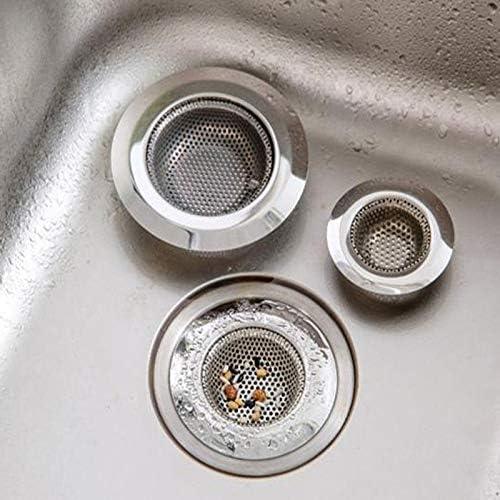 Winbang 11,5 centimetri in acciaio inox Vasca da bagno Capelli Catcher Stopper doccia foro di scarico Filtro Trappola metallo Sink Strainer