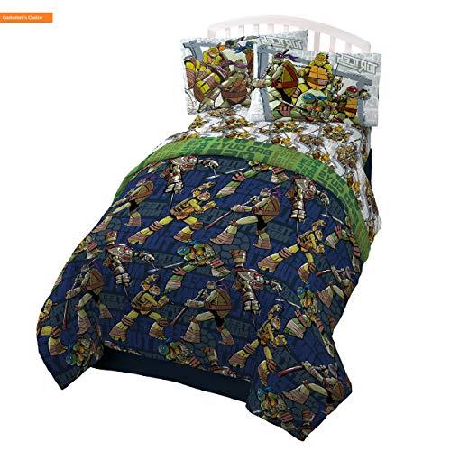 Mikash New Soft Teenage Mutant Ninja Turtles 'Stomp Foot' Super Soft Microfiber Twin 3 Piece Sheet Set | Style - Turtle Ninja Sheets Queen