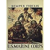 "World War II Poster - SEMPER FIDELIS. U.S. MARINE CORPS - 513685 8.5"" x 11"""