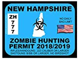 New Hampshire Zombie Hunting Permit(Bumper Sticker)