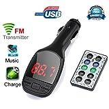 Bluetooth FM Transmitter, Sandistore Wireless MP3 Player Auto FM Transmitter Modulator LCD Car Kit USB Charger SD MMC Remote