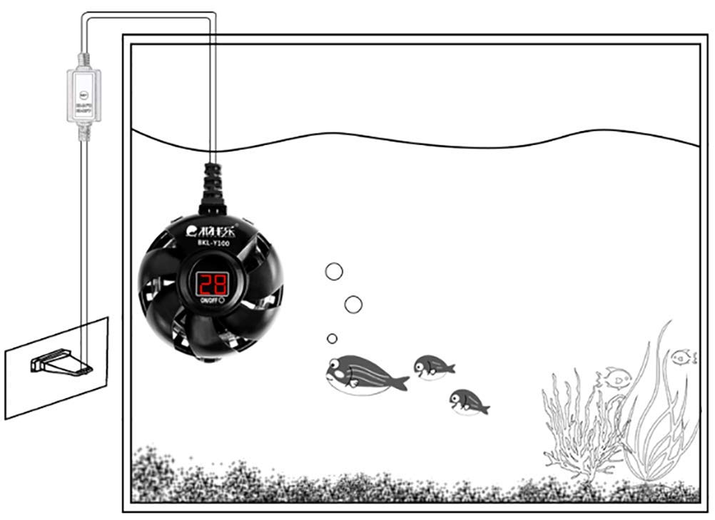 TUDIO Calentador de Acuario Sumergible Termóstato de Tanque de Pescado Calentador de Agua Dulce y Salada Ajustable con Pantalla LED,300W: Amazon.es: ...