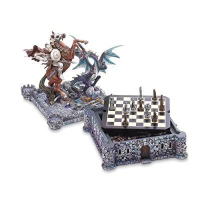 Dragon And Knight Medieval Chess Board Game Set Decor [Toy] by GetYourGiftHere