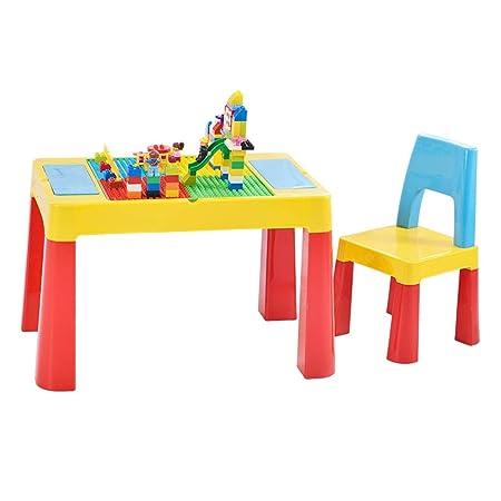 JH - Juego de Mesa de Juegos para niños con Bloques Muy Seguro y ...