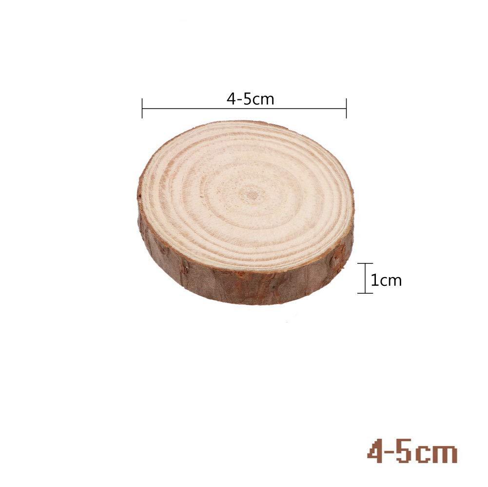 4-5cm NNMNBV 5/Taglie Durevole Naturale Rotondo in Legno Fetta Porta Bevande sottobicchiere stuoia della Tazza Creativa Tazza da t/è//caff/è Fai da Te Decorazione della tavola