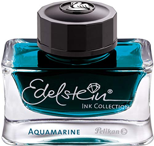 Pelikan Edelstein Bottled Ink for Fountain Pens, Aquamarine, 50ml, 1 Each (300025)