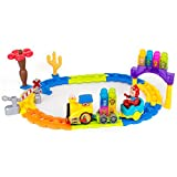 Toysery Kids Rail Park Track Toy Set for Toddler with Flashing Lights and Sounds Battery Operated