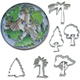 R & M International 1808 6-Piece Cookie Cutters, Tree, Assorted