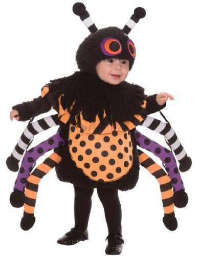 Baby Girl Spider Halloween Costume (This Guy Costumes Baby's Spider, Black/Orange/Purple,)