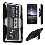 ZTE ZMax Pro Case / ZTE Carry Case, DuroCase Dual Layer Combat Armor Style Kickstand Case w/ Holster for ZTE ZMax Pro Z981 / ZTE Carry (Released in 2016) – (Game Controller)