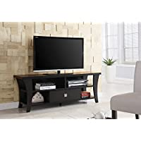 Transitional TV Console in Cappuccino
