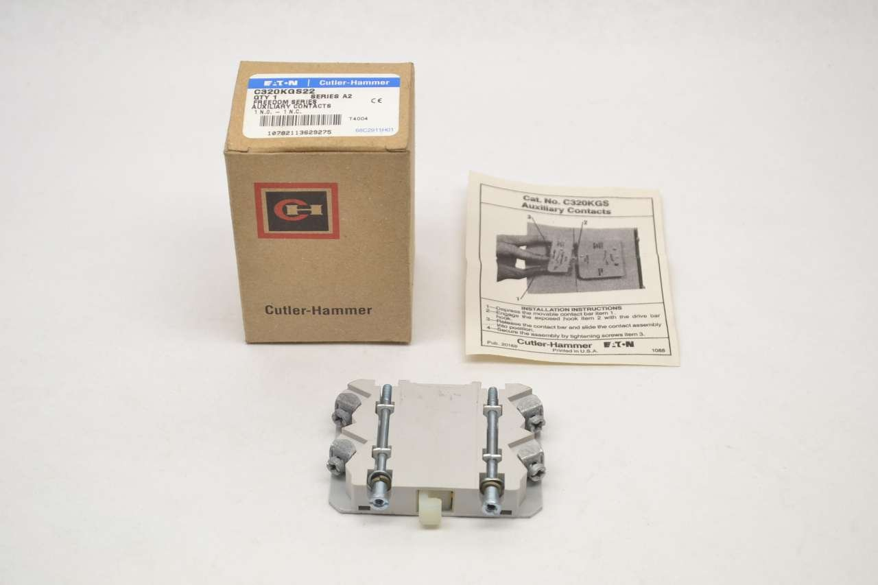 NEW CUTLER HAMMER C320KGS22 690V AUXILIARY CONTACT REPLACEMENT 10A AMP B276334