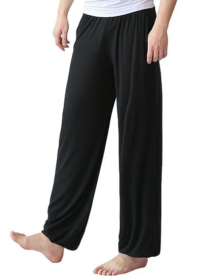 Vogstyle Mens Soft Yoga Pants Fitness Elastic Waist Casual ...