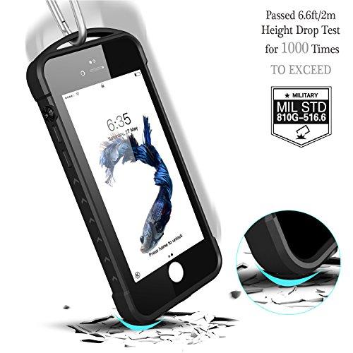 iPhone 7 plus/8 plus Waterproof Case, Temdan SUPREME Series Waterproof Case with Carabiner Built in Screen Protector Outdoor Rugged Shockproof Case for iPhone 7 plus and iPhone 8 plus(5.5 inch) by Temdan (Image #3)