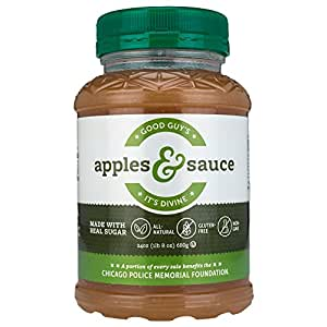Good Guy's Apples & Sauce by Mullen Foods   Chicago's Finest All-Natural Original Applesauce Recipe, Non-GMO, Gluten-Free, Thick and Chunky, 24 oz Jars (Pack of 3)