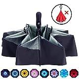 Fidus Inverted Reverse Sun&Rain Car Umbrella Large Travel UV Umbrella - Auto Open Close