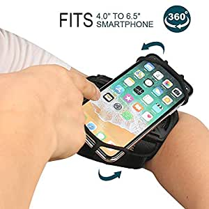 Armband phone holder for iPhone XR/iPhone XS/iPhone 8 Plus/iPhone 8/, Galaxy S8/ S8 Pl us/ S7 Edge, Note 8 5, Google Pixel, 360° Rotatable with Key Holder Phone Sports Armband