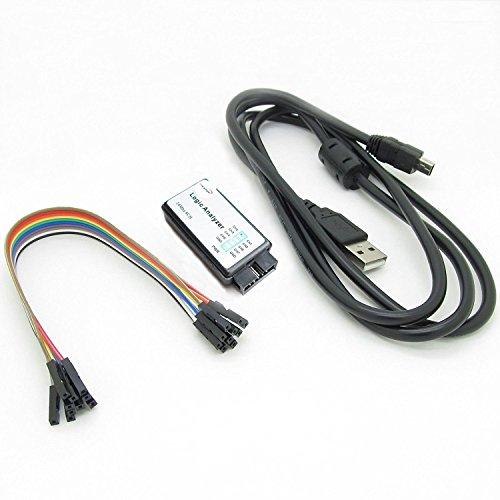 HiLetgo USB Logic Analyzer Device With USB Cable 24MHz 8CH 24MHz 8 Channel UART IIC SPI Debug for Arduino ARM FPGA M100 SCM