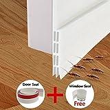 Kyпить Fixget Door Seal, Under Door Sweep Weather Stripping Door Draft stopper Door Bottom Seal Rubber Weatherproof Seal + Window Seal for Cracks & Gaps, 1.96 X 39.4 Inch, 2 Seals на Amazon.com