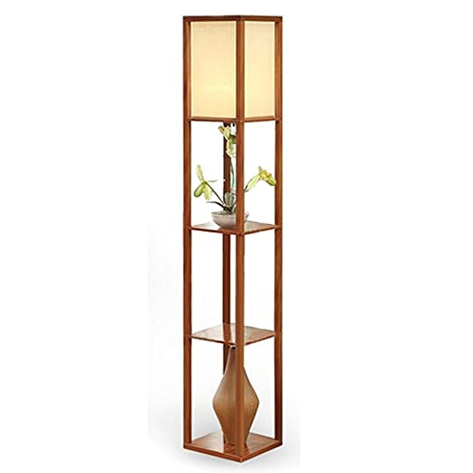 Shelf floor lamps ukrustic floor lamp with shelf lamps for Floor lamp with shelves australia