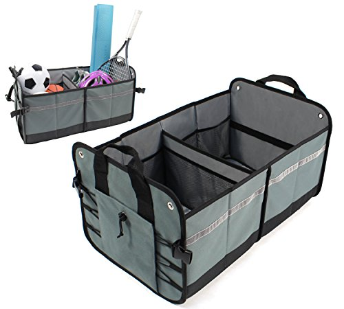 Cargo Pal - LK Baby Car Trunk Organizer Cargo Container for Your Auto SUV Minivan Car and Truck Collapsible Foldable for Easy Storage in Grey