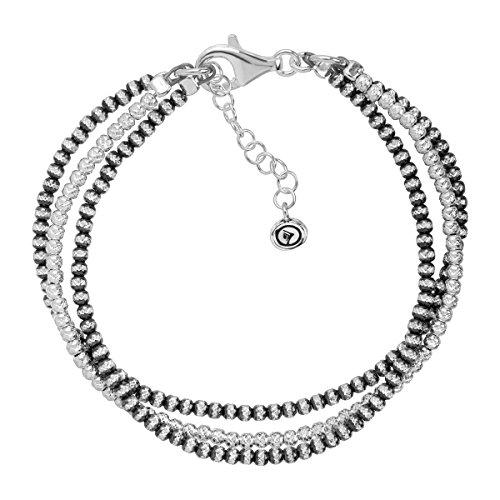 Silver Three Strand Bracelet - 4