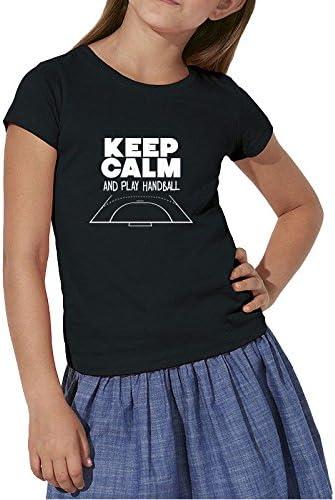 TALLA 5/6 ans EU. Sport is Good T-Shirt Junior fille Keep Calm & Play Handball
