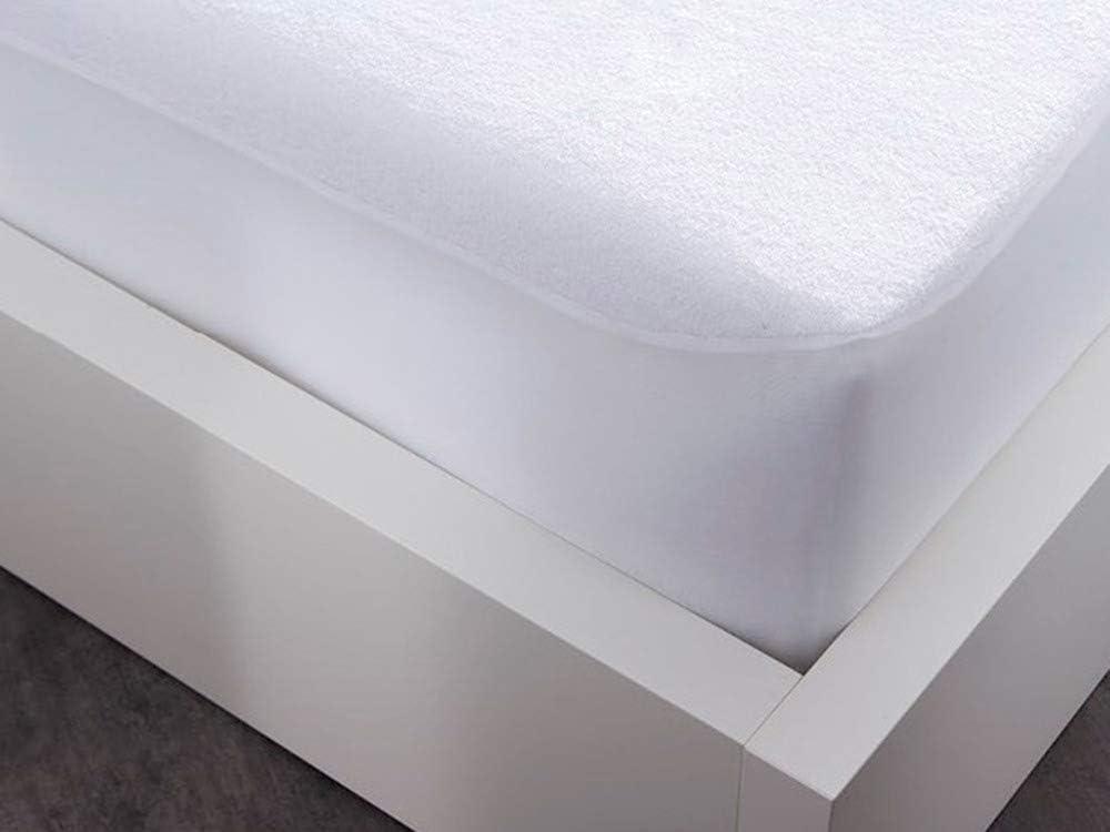 Blanc 190x140x1 cm TODAY Protege Matelas Molleton 140//190 Plush Coton