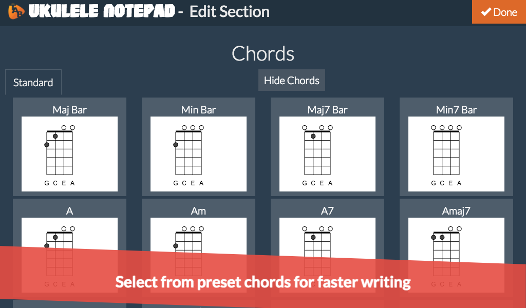 Amazon Ukulele Notepad Tab Editor Appstore For Android