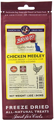 (Bravo 294128 Healthy Medley Chicken With Organs For Pets, 1.5-Ounce)