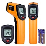 Masione Temperature Gun Non-contact Digital Laser Infrared Ir Thermometer -58°F to 716°F (-50 ~ 380°C) Instant-read Handheld battery