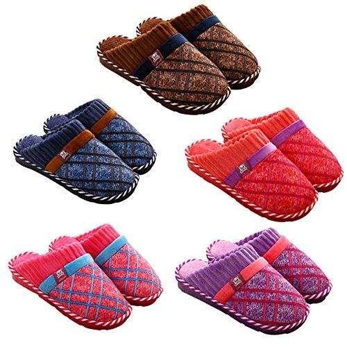 Meijunter Komfort Weich Zuhause Baumwolle Schuhe Indoor Non-slip Hausschuhe Warm Purple
