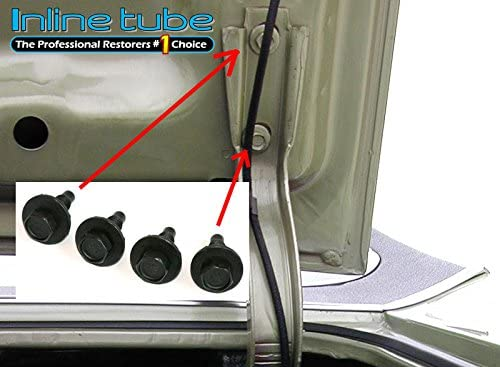 J-7-5 El Camino Inline Tube Trunk Lid Hinge Bolts with Factory M Head Marking Compatible with 1964-72 GM A-Body Chevelle GTO and Skylark Cutlass
